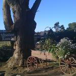 a charming entrance to the ranch