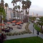 One of the seating areas. You see the city & Queen Mary.