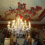 The chandelier in the Dinning Room of the Stetson Mansion