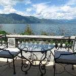 Balcony overlooking the lake