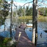 Vue sur le lac devant le gite
