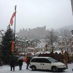 The hostel is located just a little further up the castle hill.