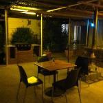 beer garden at coronation hotel