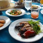Jerk Chicken lunch at Pier One