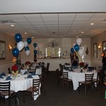 Room set up for party