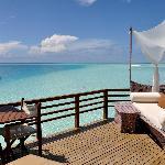 Terrace in water villa (310)