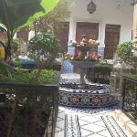 the courtyard at riad dar sbihi