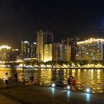river walk at night
