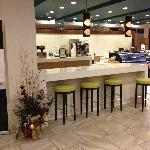 Hotel coffee area