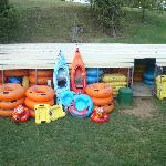 Some of our tubes and kayaks