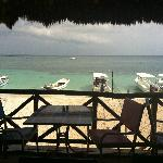 View of the beach from La Panza es Primero Restaurant