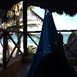 Relax in the hammock by the way every cabin has 2 hammocks most other resorts only has one