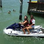 A beautiful day for a jet ski ride!