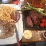 Steak on the Stone - delicious!