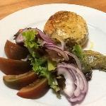 Hamburguesa de salmón (+salsa de mostaza)