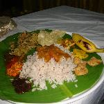 Some of the delicious items from the Sadhya