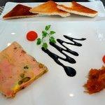 Foie gras pistaches porto