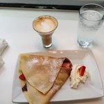 sweet crepe and cafe latte