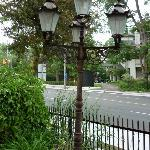 Street lamp on property