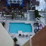 Swiming pool seen from room 1708