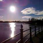 Sun on the lake.