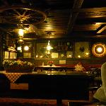 Richly decorated reception/common room