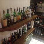 good range of liqueurs