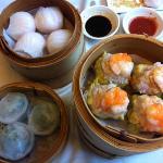 har gow, sui mei and shrimp chive dumplings-delicious