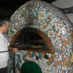 Brick oven made of local pottery tiles