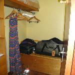 Walk-in closet in the bungalow