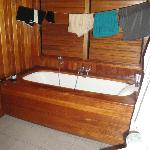 Bathtub in bungalow