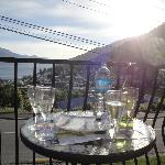 Happy hour on the front balcony