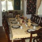 The dining room was gorgeous with attractive china.