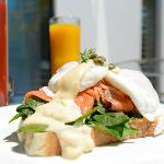 Salmon Benedict from our Breakfast menu