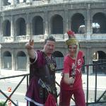 """My son enjoyed playing """"gladiators"""" at the Colosseum"""