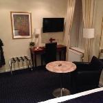 Lounge area of a standard single room