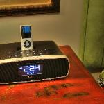 I-pod alarm clock radios in bedrooms