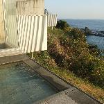 部屋の露天風呂からの景観