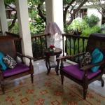 cosy corner on veranda