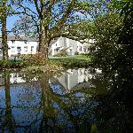 View of the Hall from the pond