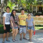 Along the Beach Sidewalk - Jessie, Tinay, Jojo and myself
