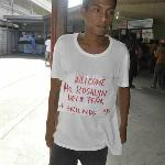 The guy who welcomed us @ Batangas Port
