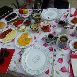 Excellent breakfast spread