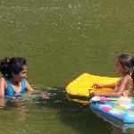 Children love the lagoon