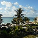 Picture from our balcony - looking towards the beach & ocean