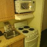 Fridge Small Stove Microwave