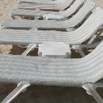 Chaise on beach