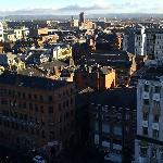 View of Manchester from the balcony, 11th floor.