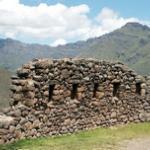 muro inca en Chinchero