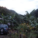 Die Aussicht auf der Seite des Eingangs Richtung Irazu-Vulkan